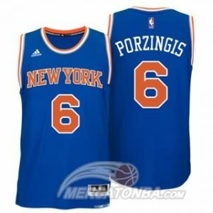 Canotte Porzingis,New York Knicks Blu
