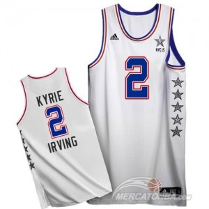 Canotte NBA Kyrie,All Star 2015 Bianco