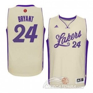Canotte Bryant Christmas,Los Angeles Lakers Bianco