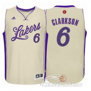 Canotte Clarkson Christmas,Los Angeles Lakers Bianco