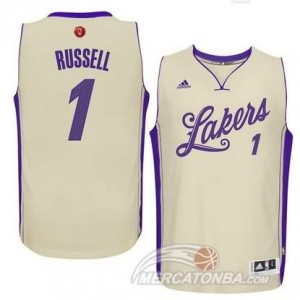 Canotte Russell Christmas,Los Angeles Lakers Bianco