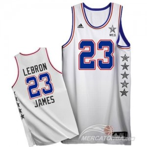 Canotte NBA Lebron,All Star 2015 Bianco