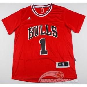 Canotte NBA Manga Corta Bull Rosa Rosso