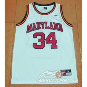 Canotte NCAA Maryland Blas Bianco