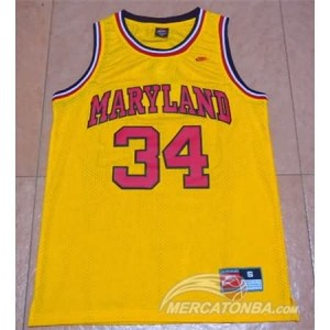 Canotte NCAA Maryland Blas Giallo
