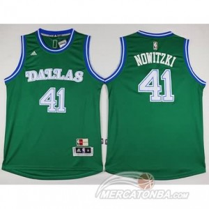 Canotte Nowitzik,Dallas Mavericks Verde
