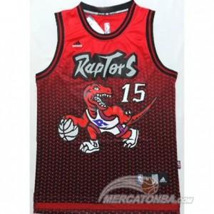 Canotte NBA Moda Raptors Carter Rosso