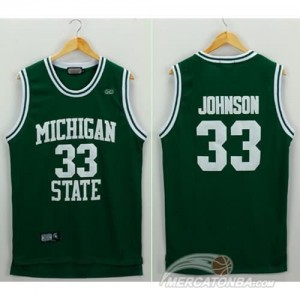 Canotte NCAA Michigan State Johnson Verde