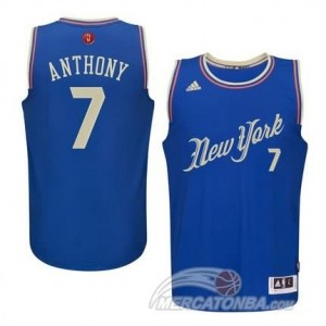 Canotte Anthony Christmas,New York Knicks Blu