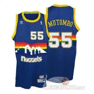 Canotte Mutombo,Denver Nuggets Blauw