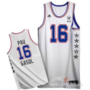 Canotte NBA Pau,All Star 2015 Bianco