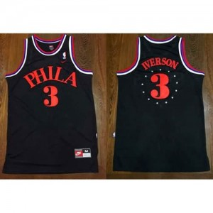Canotte Phila Iverson,Philadelphia 76ers Nero