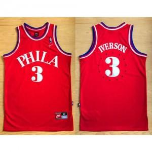 Canotte Phila Iverson,Philadelphia 76ers Rosso