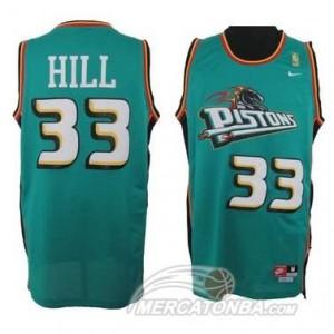 Canotte Hill,Detroit Pistons Verde