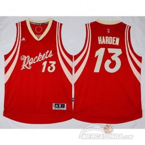 Canotte Harden Christmas,Houston Rockets Rosso