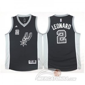 Canotte Leonard,San Antonio Spurs Nero