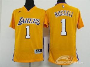 Canotte T-shirt Russell Giallo