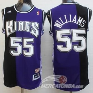 Canotte Williams,Sacramento Kings Viola Nero