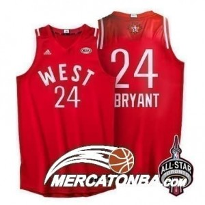 Canotte NBA Bryant,All Star 2016 Rosso