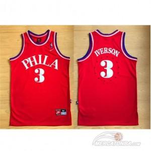 Canotte retro Allen iverson,Philadelphia 76ers Rosso