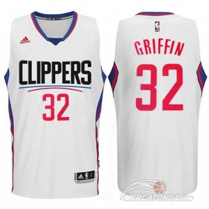 Canotte Griffi,Los Angeles Clippers Bianco