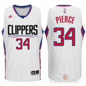 Canotte Pierce,Los Angeles Clippers Bianco