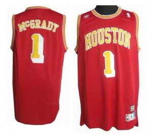 Canotte retro McGrady,Houston Rockets Rosso2