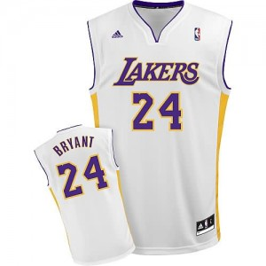 Canotte Rivoluzione 30 Bryant,Los Angeles Lakers Bianco