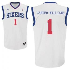 Canotte Carter Williams,Philadelphia 76ers Bianco