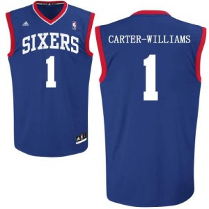 Canotte Carter Williams,Philadelphia 76ers Blu