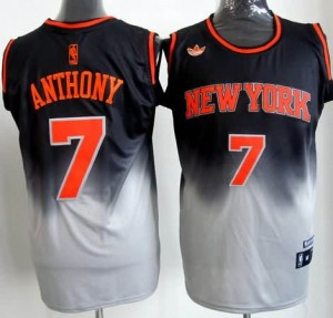 Canotte NBA Fadeaway Moda Anthony Nero Bianco