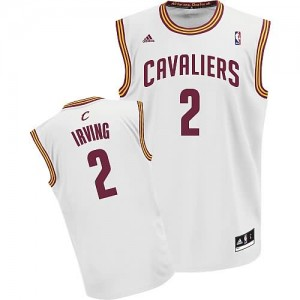Canotte Rivoluzione 30 Irving,Cleveland Cavaliers Bianco