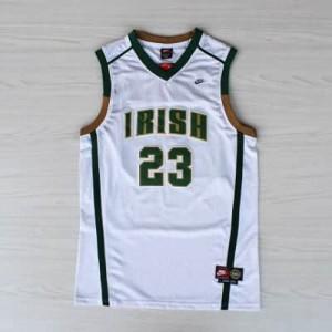 Canotte NCAA James,Irish Bianco