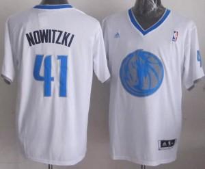 Canotte NBA Natale 2013 Nowitzki Bianco