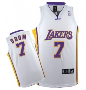 Canotte Rivoluzione 30 Odom,Los Angeles Lakers Bianco