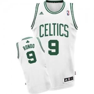 Canotte Rivoluzione 30 Rondo,Boston Celtics Bianco