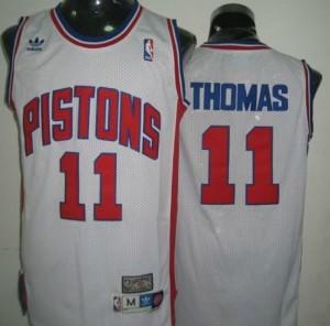 Canotte Thomas,Detroit Pistons Bianco