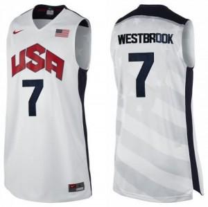 Canotte Westbrook,USA 2012 Bianco