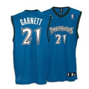 Canotte retro Garnett,Minnesota Timberwolves Blu