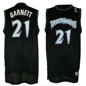 Canotte retro Garnett,Minnesota Timberwolves Nero