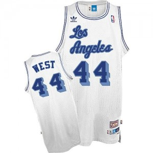 Canotte retro Jerry West,Los Angeles Lakers Bianco