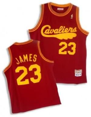 Canotte retro Lebron James,Cleveland Cavaliers Rosso