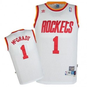 Canotte retro McGrady,Houston Rockets Bianco