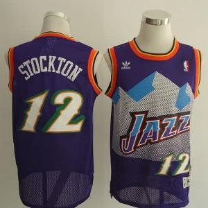 Canotte retro Stockton,Utah Jazz Porpora