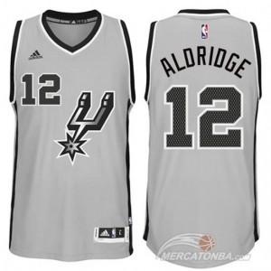 Canotte Aldridge,San Antonio Spurs Grigio