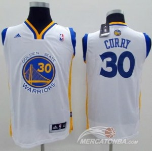 Canotte Bambini Curry,Golden State Warriors Bianco