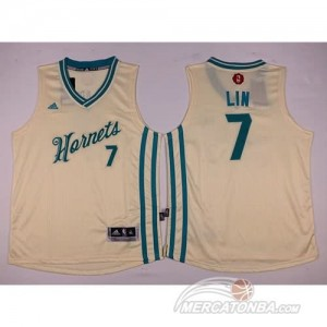 Canotte Bambini Lin,New Orleans Hornets Bianco