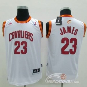 Canotte Bambini James,Cleveland Cavaliers Bianco