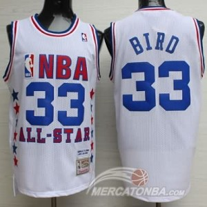 Canotte NBA Bird,All Star 1990 Bianco