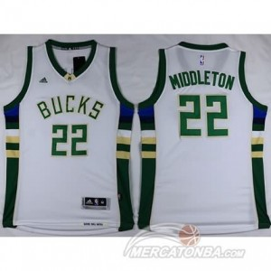 Canotte Middleton,Milwaukee Bucks Bianco